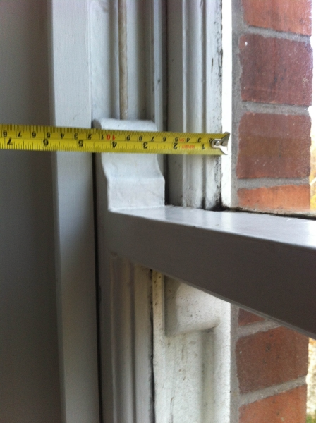 the thickness of existing frames allowed for retrofitting double glazing